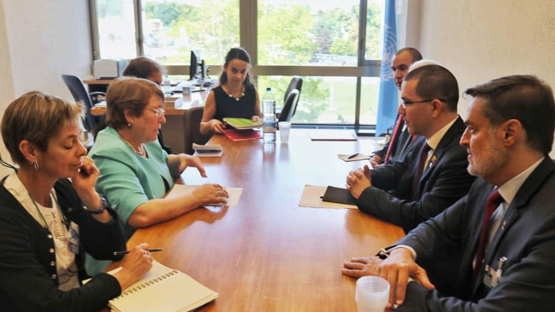 Jorge Arreaza se reunió con Alta Comisionada de los DDHH de la ONU